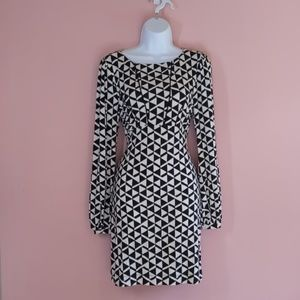 Tart Collections Black and White Geometric Dress